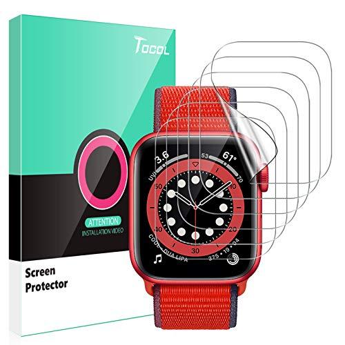 TOCOL 6 Stück Schutzfolie kompatibel mit Apple Watch Series 6 SE 5 4 40mm Klar...