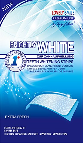 Lovely Smile | 28 WHITE-STRIPS Bleaching Stripes Zahnaufhellung-Streifen | mit advanced no-slip technology | Professionelles Bleaching für Weiße...