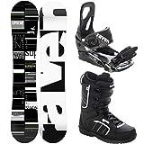 RAVEN Snowboard Set: Snowboard Supreme Green + Bindung s200 Black + Boots Target...