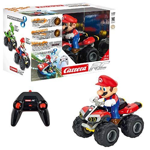 Carrera RC Mario Kart - Quad – Ferngesteuertes Kinderfahrzeug für drinnen & draußen – Elektro-Fahrzeug mit Sound für Kinder ab 6 Jahren &...