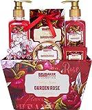 BRUBAKER Cosmetics bath and shower set floral rose and violet fragrance - 7 pieces - vintage flowers ...