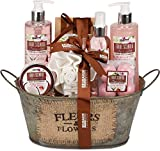 BRUBAKER Cosmetics bath and shower set coconut & strawberry fragrance - 11-piece gift set in vintage ...