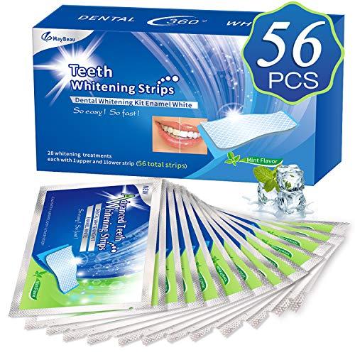 White Stripes 3D Zahnaufhellung mit 56 Streifen gegen Gelbe Zähne Rauchflecken...