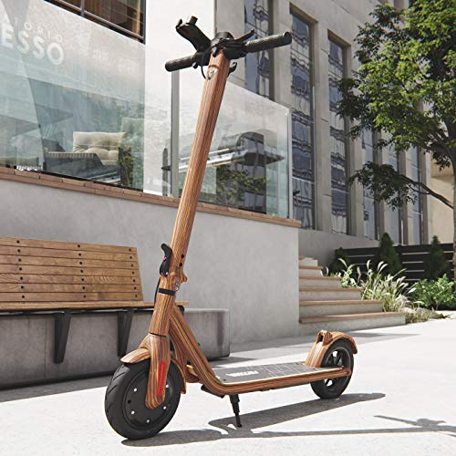 Viron Elektro Scooter 700 W Escooter mit APP & Bluetooth Roller Elektroroller Faltbar Aluminium E-Scooter (Holz-Optik)