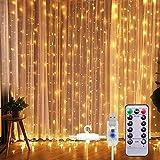SUNNEST LED Lichterketten Lichtervorhang 300 LEDs USB...