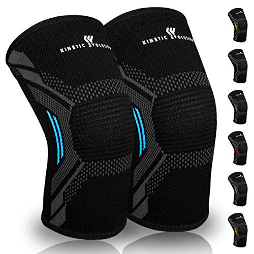 Kinetic Evolution Kniebandage, Sportbandage für Damen und Männer, rutschfest,...