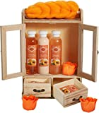 BRUBAKER Cosmetics bath and care set peach in a wooden cabinet