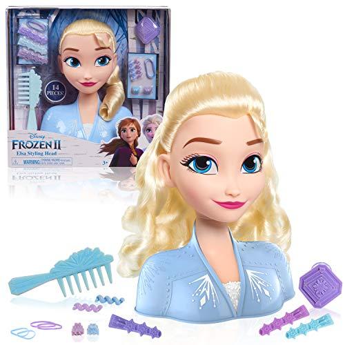 Just Play Frozen II Stylingkopf ELSA 20 cm mit Zubehör 13 Haar-Accessoires