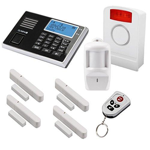 Olympia Protect 9061 Funk-Alarmanlage Super Set  GSM Smat mit App Kabellos  Fenster & Tür | Einbruchmeldeanlage mit Bewegungsmelder für Haus &...
