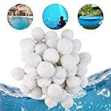 Hospaop Filter Balls 700g, Filterballs für sandfilteranlagen, Filterbälle für Poolpumpe, Kartuschenfilter Sandfilteranlage Pool ersetzen mit Hohe...