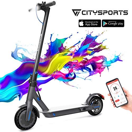CITYSPORTS Elektroroller 8,5 Zoll, E-scooter Faltbarer Roller mit APP &...