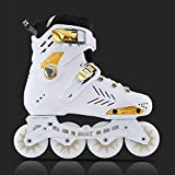 WALLHANG Inline Skate, boys and girls speed skate, suitable for beginners / white / 35