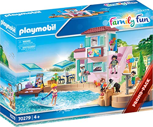 PLAYMOBIL Family Fun 70279 Eisdiele am Hafen, Ab 4...