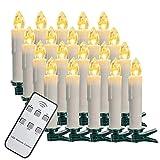 SZILBZ 40 stks Kerst LED kaarsen kerstverlichting ...