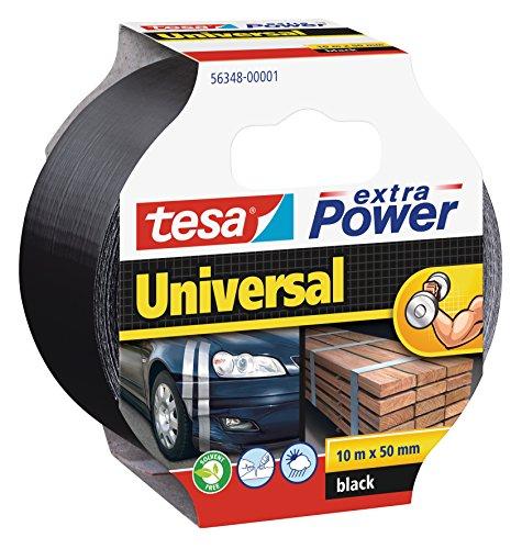 tesa 56389 Reparaturband extra Power Universal 4er Pack wasserfest 50m x 50mm UV-best/ändig schwarz