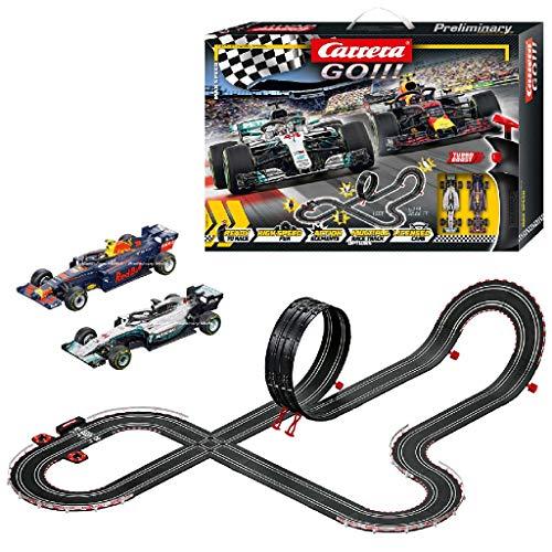 Carrera GO!!! Max Speed Rennstrecken-Set | 6,3m elektrische Rennbahn mit...