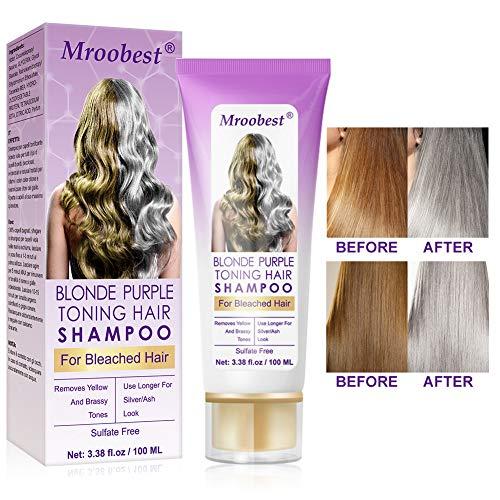 No Yellow Shampoo, Purple Shampoo, Anti Gelb Shampoo, Brassy, Silber & Color Treated Hair Moisturizer, gebleichtes und hervorgehobenes Haar,...