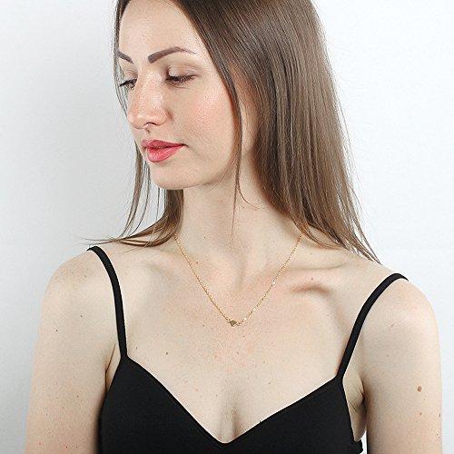 Yowablo Beauty Charm Frauen Edelstahl Herz Anhänger...