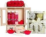 BRUBAKER Cosmetics Bath and Care Set Cranberry & Vanilla Rose Mint 15 pieces