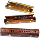 Simply Essential Holz Räucherstäbchen Räucherstäbchen Kegel Halter Smoke Box + 10 Räucherkerzen von