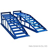 Helo 2 Stück KFZ Auffahrrampe blau 2000 kg Belastung pro...