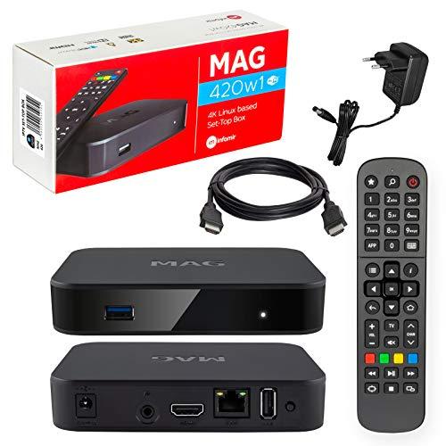MAG 420w1 Original Infomir & HB-DIGITAL 4K IPTV Set TOP Box Multimedia Player...