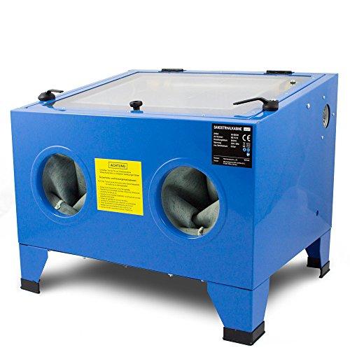 BITUXX® Sandstrahlkabine 90 L Liter Sandstrahlen Industrie Tisch...
