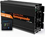 EDECOA Wechselrichter reiner sinus 1500w Spannungswandler 12V 230V 2x USB und...