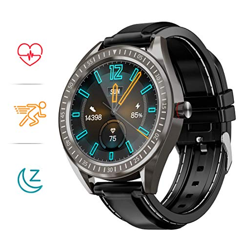 COULAX SmartWatch, 1.3 Zoll Touch Farbdisplay Fitness Armbanduhr mit Pulsuhr, IP68 wasserdichte Sportuhr mit Schrittzähler Schlafmonitor SMS SNS...