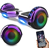 RCB Hoverboards Kinder 6,5 Zoll Elektro Scooter mit Bluetooth LED Flash...