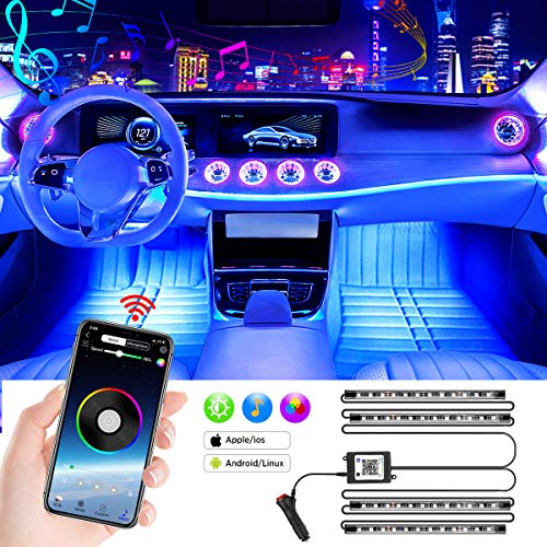 LED Innenbeleuchtung Auto, Mture 4pcs 48 LED Auto Innenraumbeleuchtung Strip mit...