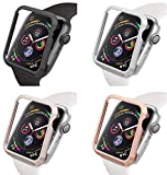 Aluminum protective cover compatible with Apple Watch 44mm / 40mm without / with display glass, iWatch accessories aluminum ...