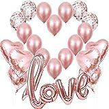 Rosegold Love Balloons, XXL Love Folie Balloon Rose Gold ...