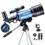 Aomekie Astronomical Telescope Children Beginner 70MM Telescope Astronomy with Smartphone Adapter ...