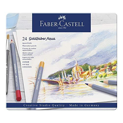 Faber-Castell 114624 Aquarellstifte Goldfaber, 24er Metalletui