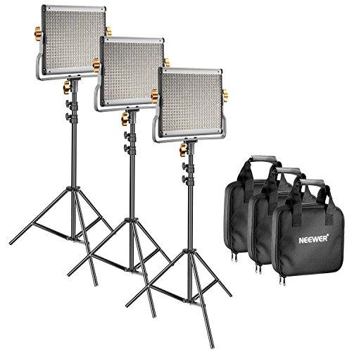 Neewer 3 Pack Dimmbar Bi-Farbe 480 LED Video Licht und Ständer Beleuchtung Kit:...