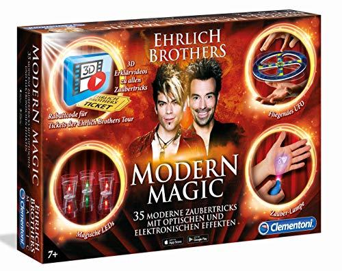 Clementoni 59050 Ehrlich Brothers Modern Magic, Zauberkasten für Kinder ab 7 Jahren, magisches Equipment für 35 moderne Zaubertricks, inkl. 3D...