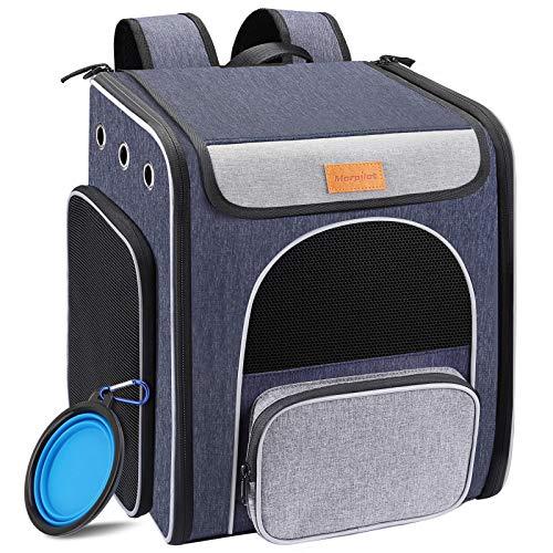 Hunderucksack, Faltbarer Katzenrucksack für Katzen und Hunde, Atmungsaktiver...