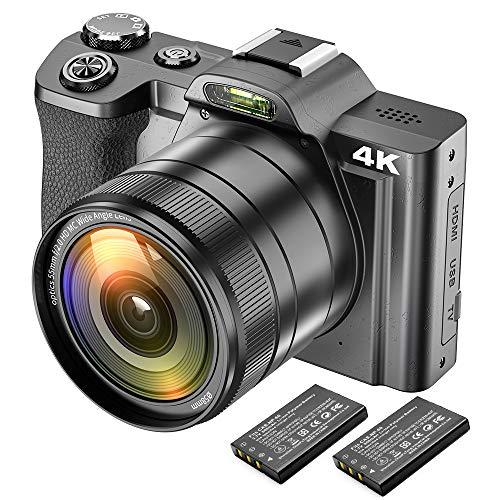 4K Digitalkamera Videokamera Camcorder Ultra HD 48MP WiFi YouTube Vlogging...