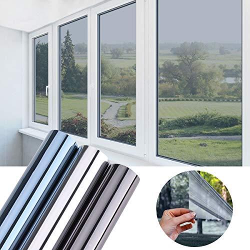 KINLO 45x200cm verspiegelte Folie Sonnenschutz selbstklebend Fensterfolie...