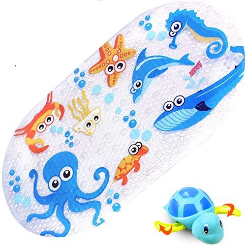 Hohe Qualit/ät Leicht zu reinigen Freundliche Fisch Kinder rutschfeste Badematte Cleverer Anti-Rutsch-Saugnapf Kinder und Kleinkind tiddlers /& nippers Duschmatten f/ür Baby
