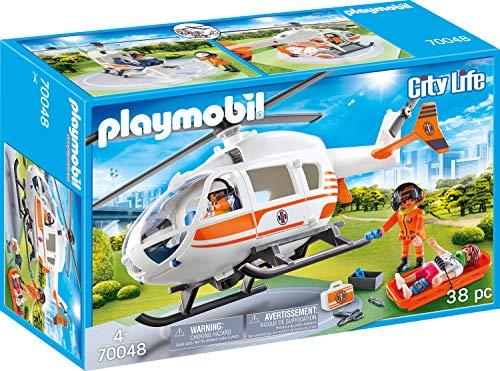 Playmobil City Life 70048 Rettungshelikopter, Ab 4...