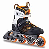 K2 Damen Inline Skates Alexis 80 - Schwarz-Weiß-Orange - EU: 36 (US: 6 - UK:...