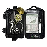 Tactical Area Survival-Kit SOS-EDC-Notfall-Survival-Armband, Feuerstarter,...