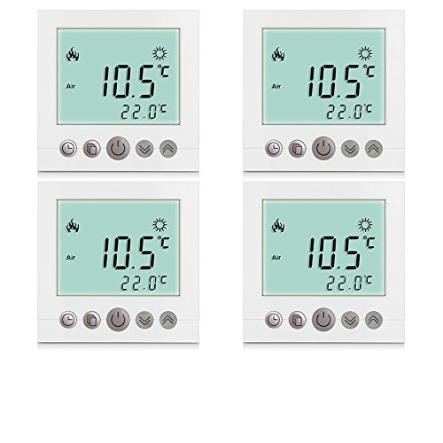 SM-PC®, 4x Set Digital Thermostat Raumthermostat Fußbodenheizung Wandheizung...