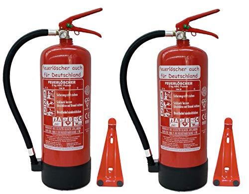 2X 6 kg ABC Pulver Feuerlöscher NEU Orginalverpackt Brandklasse ABC, EN3,...