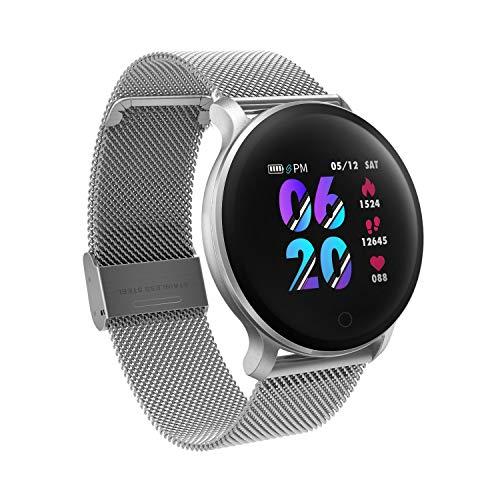 moreFit Fitness Armband Uhr, Smartwatch Fitness Tracker mit Pulsmesser Wasserdicht IP68 Fitness Uhr Pulsuhr Schrittzähler Uhr für Damen Herren Anruf...