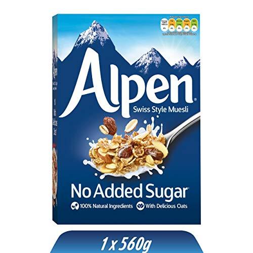 Alpen No Added Sugar Müsli (1 x 560 g) – gesundes Frühstück im Schweizer...