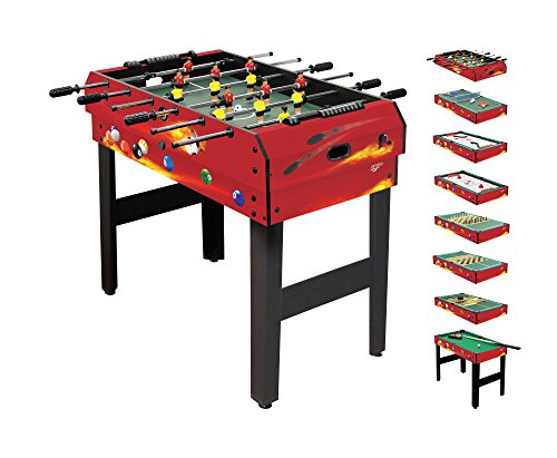 Carromco Multifunktionstisch - 8 in 1 - Fire XT Unisex Erwachsene, Red/Black