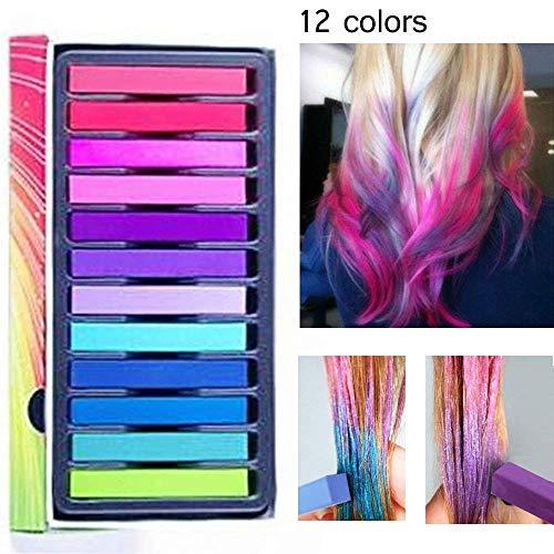 Haarkreide,Temporäre Haarfarbe,Haar Colorationen,Haarkreide kinder,Temporäre Haarfarbe Set für Kinder & Teenager- Waschbar und ungiftig - Ideal...
